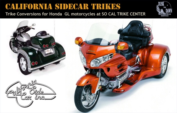 California Side Car Inc  trike conversion kits for Honda GL
